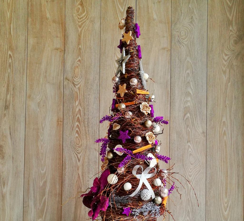 Choinka Świąteczna Wigilia z witek brzozowych