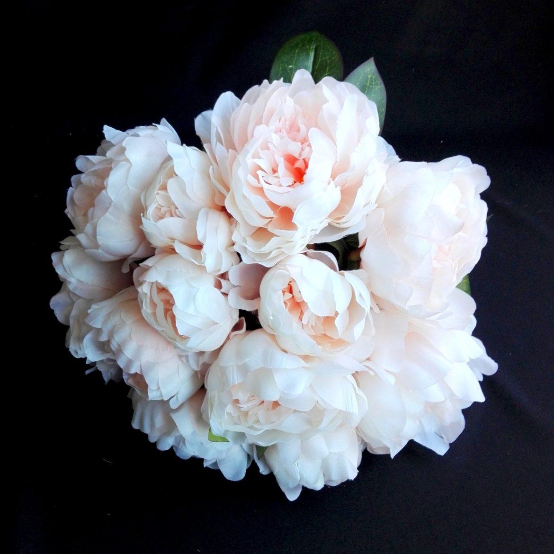 sztuczne kwiaty peonie