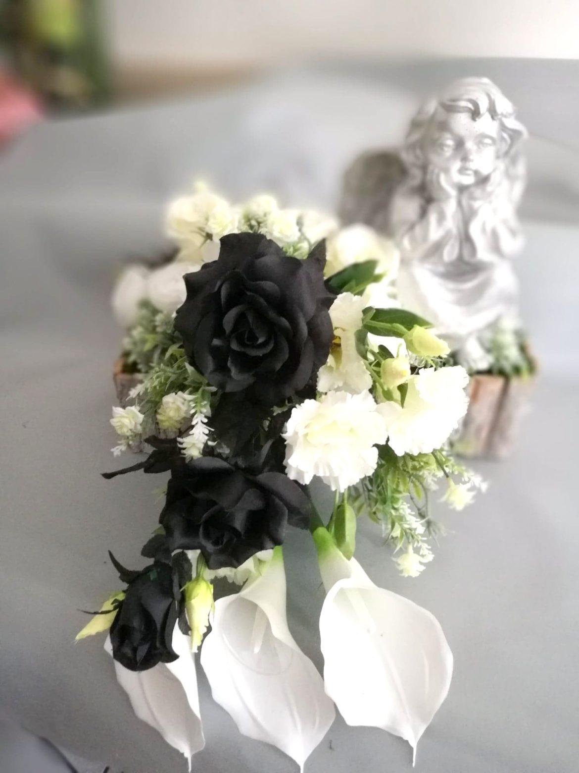 kwiaty sztuczne na cmentarz kompozycje