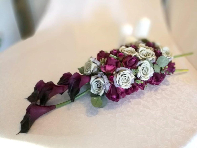 stroiki na cmentarz ze sztucznych kwiatów