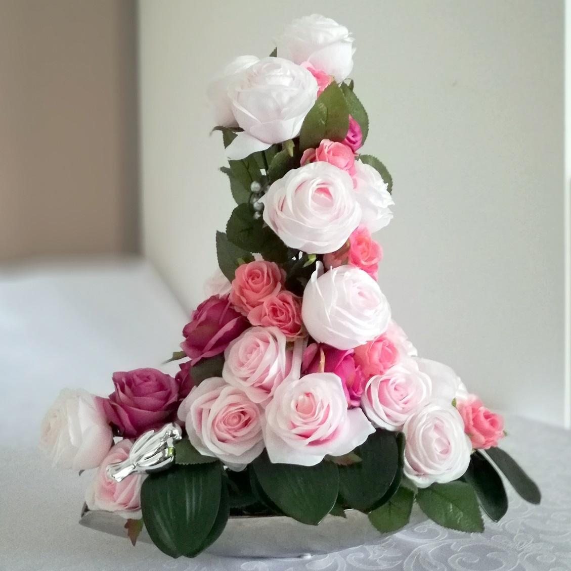 Kompozycja kwiatowa Kamelia stroik nr. 163