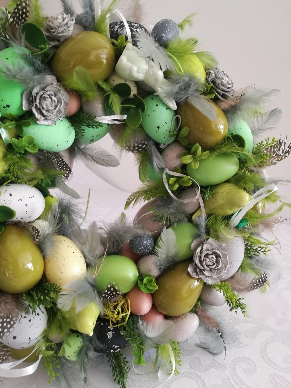 Wianek Wielkanocny w zieleni nr. 86