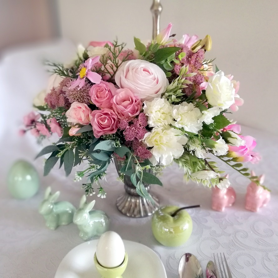 Kompozycja kwiatowa Wiosenne pastele nr 196