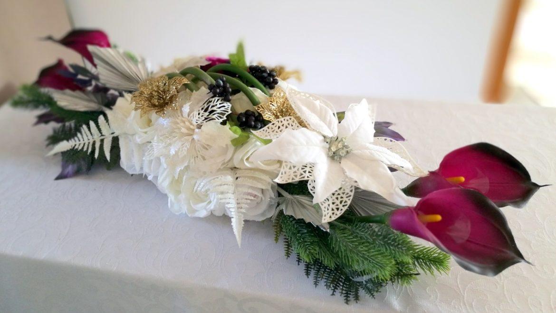 Świąteczny stroik nagrobny nr 235