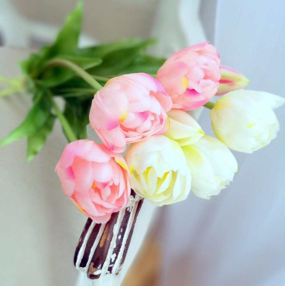 Gumowe tulipany jasny róż bukiet