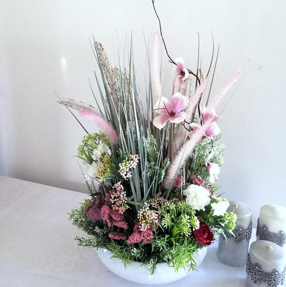 Dekoracja trawy i polne kwiaty nr. 273