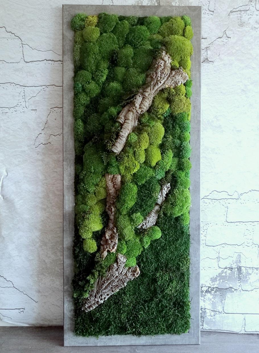 Obraz z mchu stabilizowanego 160 x 60 cm