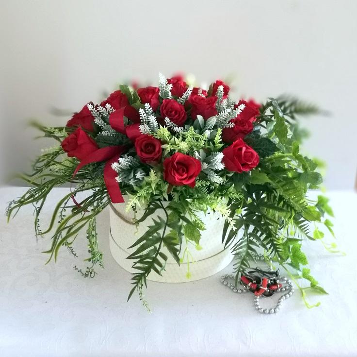 Flower box z czerwonymi różami Miłość nr 324