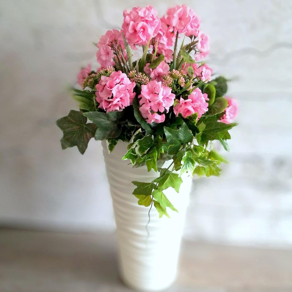 Różowa pelargonia i bluszcz nr 331