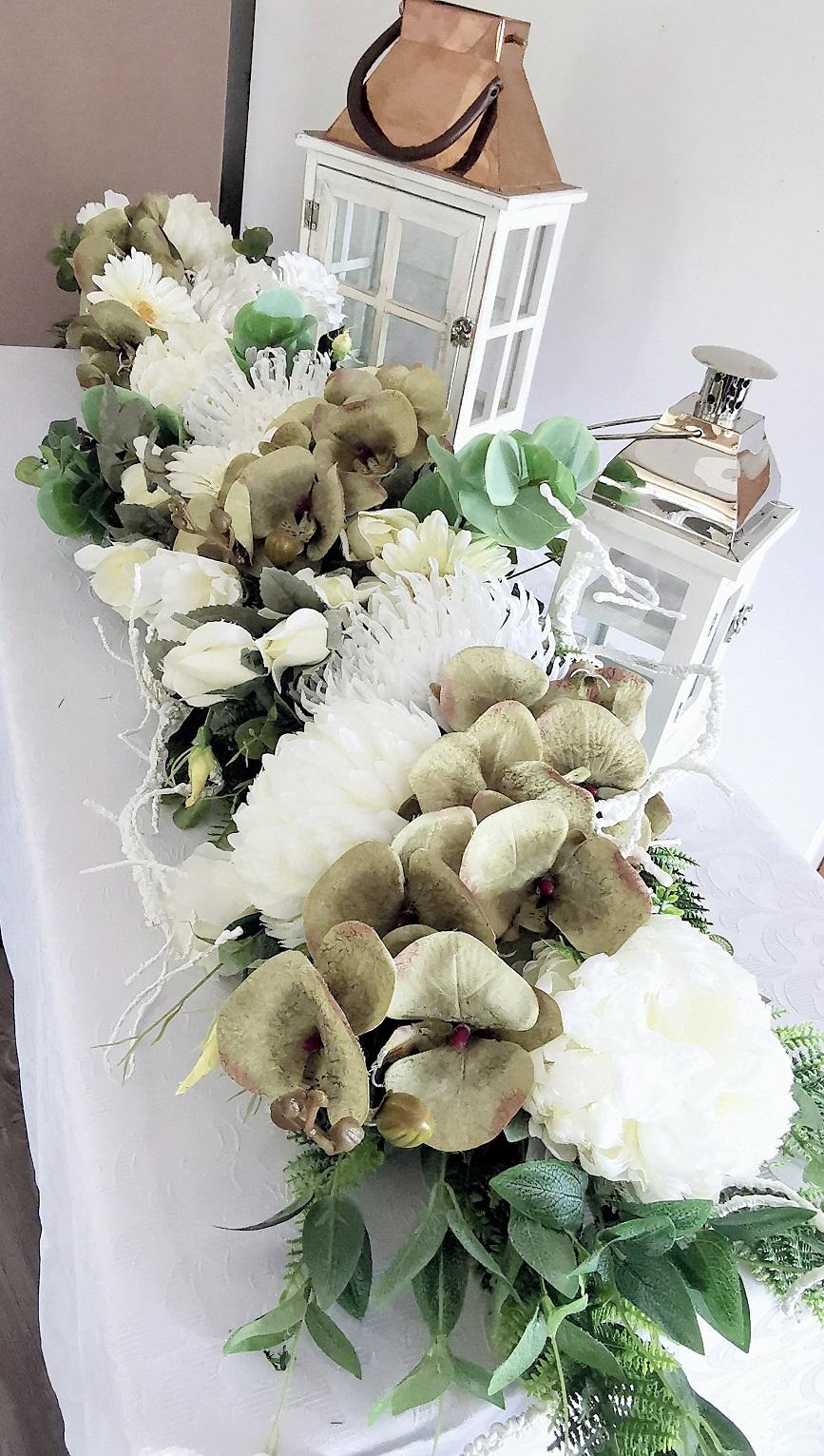 Girlanda kwiatowa storczyki i róże nr 328