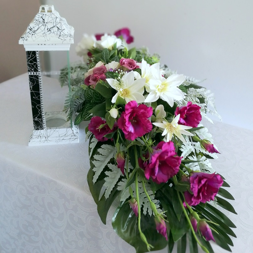 Stroik nagrobny w fiolecie nr 348