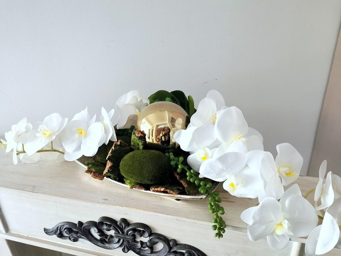 Elegancka kompozycja kwiatowa ze storczykami nr 361