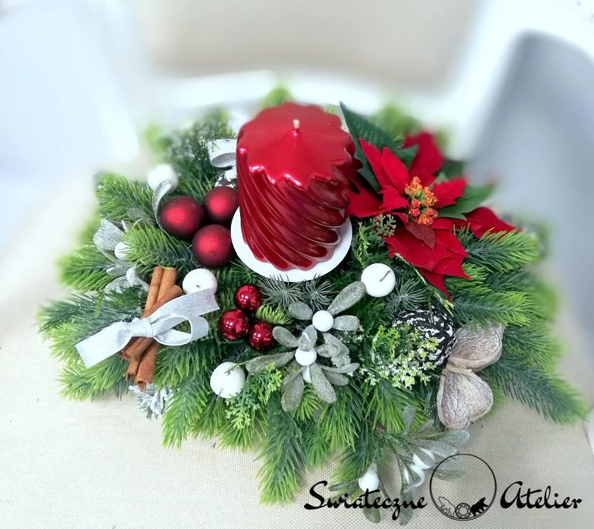Stroik świąteczny z gwiazdą betlejemską nr 372