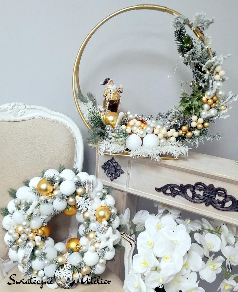 Świąteczny wianek Złote święta nr 143