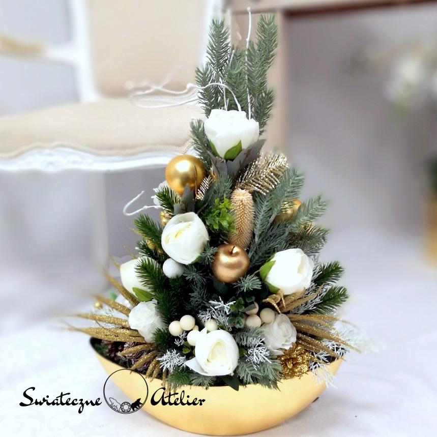 Choinka Złote Święta nr 387