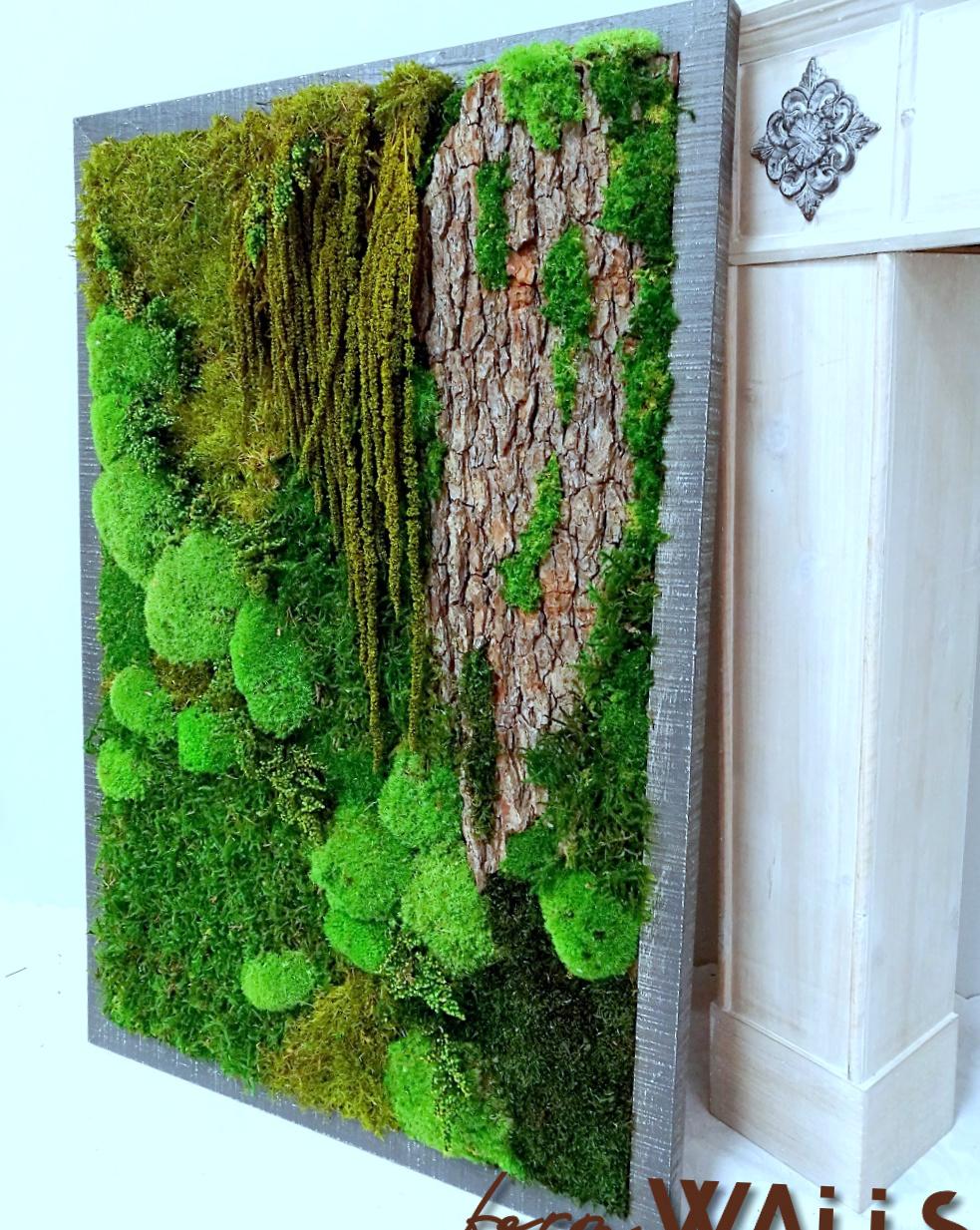 Obraz z mchu stabilizowanego 97 x 67 cm