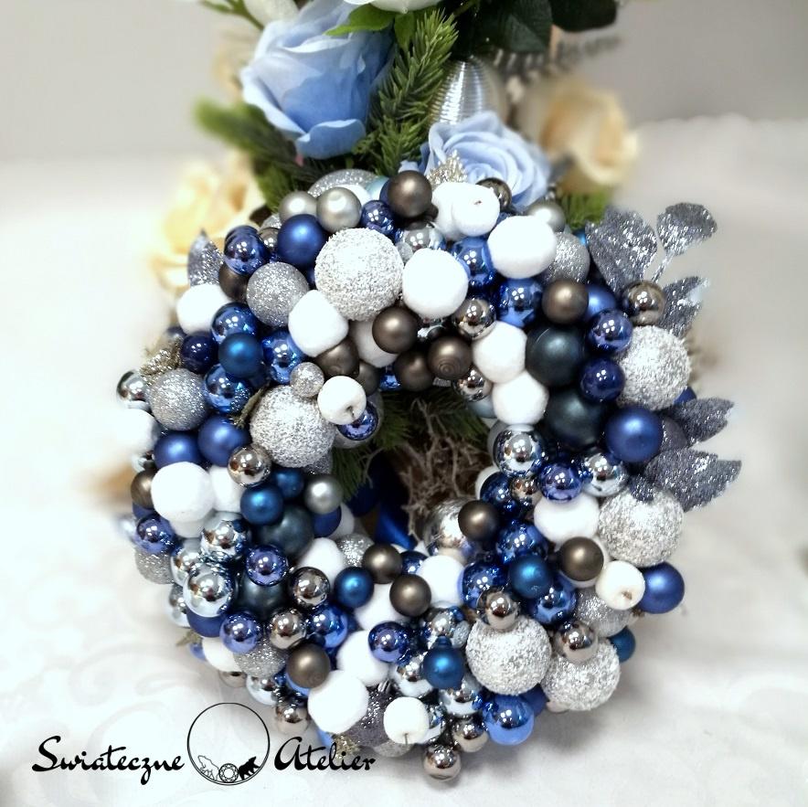Świąteczny wianek Niebieskie Święta nr 149