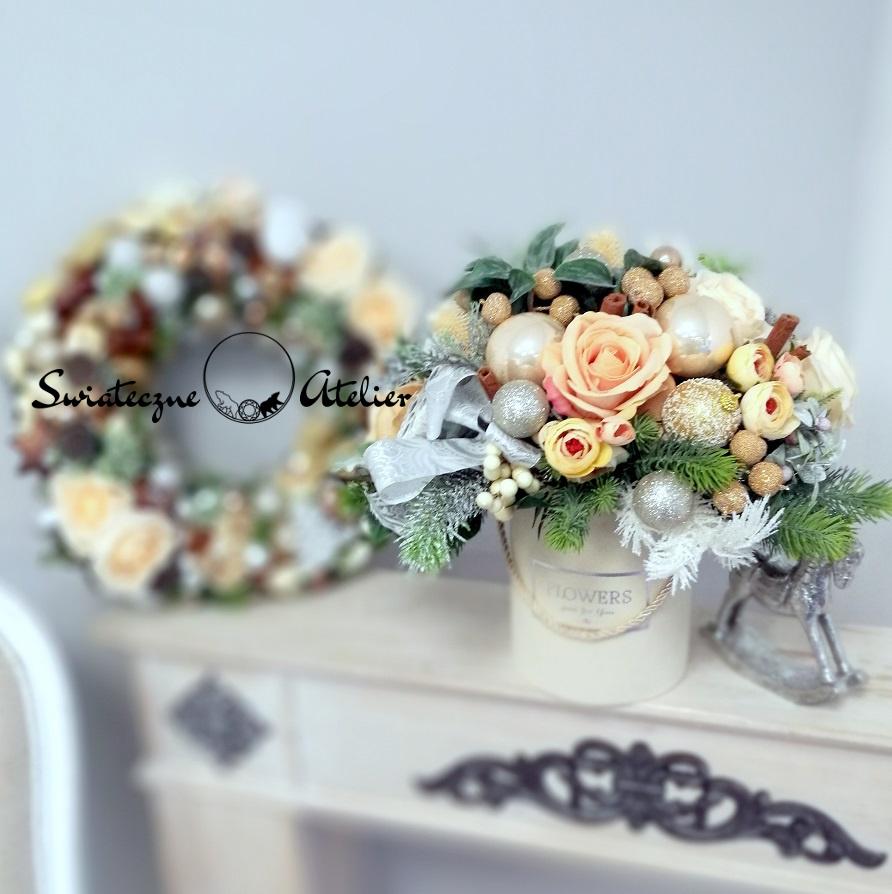 Świąteczny wianek i flower box Wanilia z cynamonem nr 397