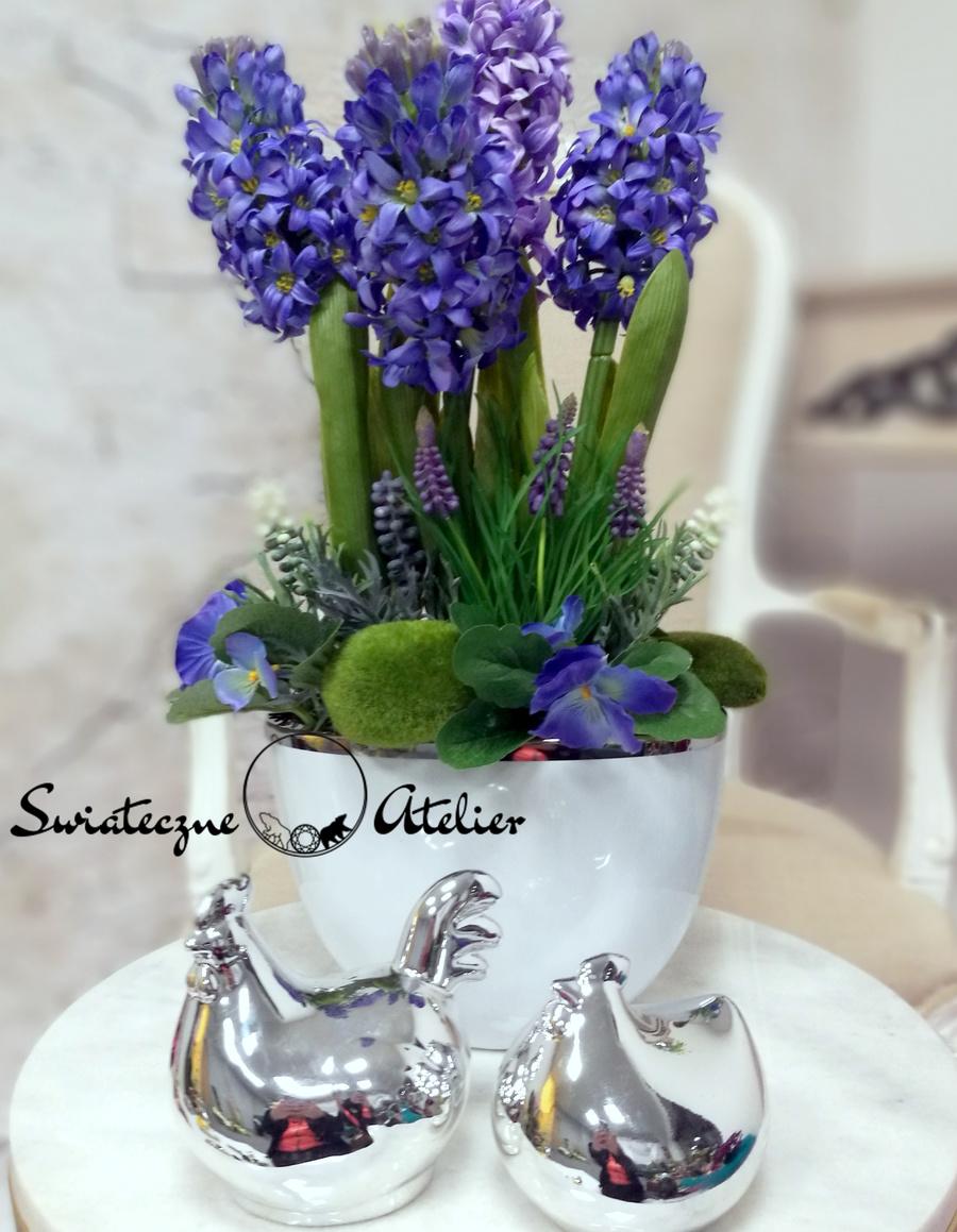 Dekoracja kwiatowa Hiacynty i bratki nr 454