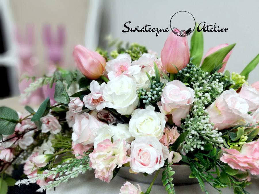 Wiosenna kompozycja kwiatowa pastelowa nr 465