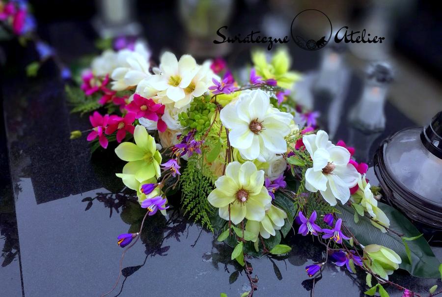 Stroik nagrobny Wiosenny dzień nr 462