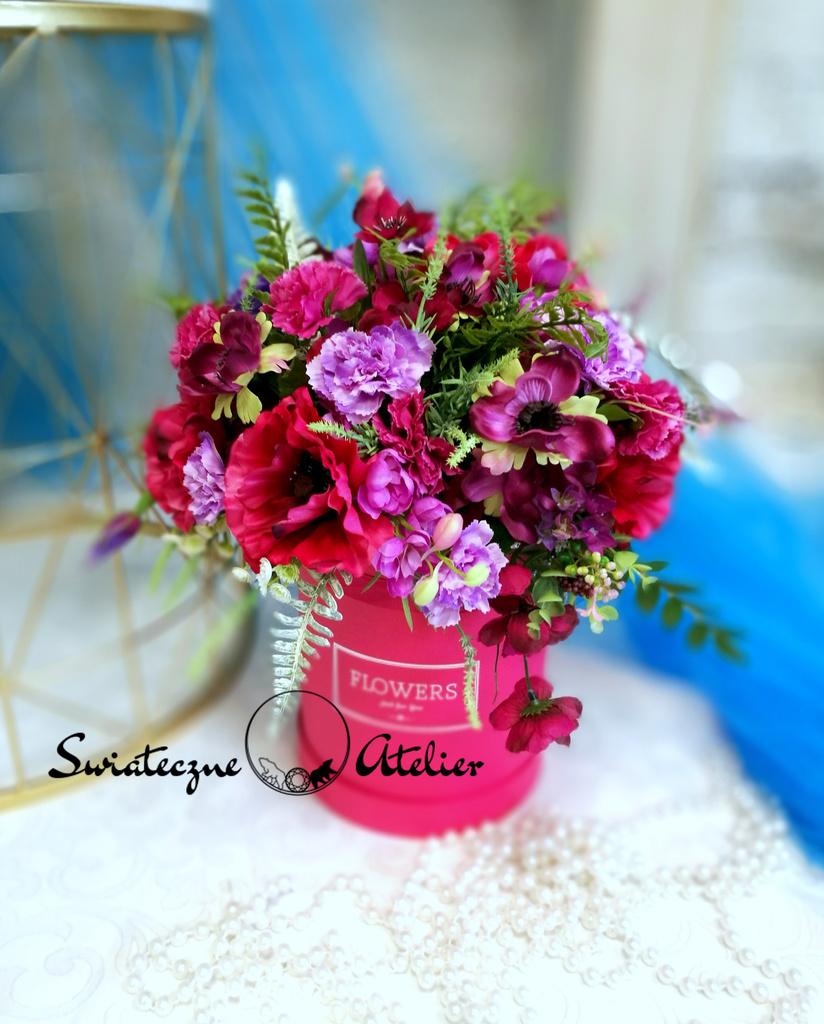 Flower box kwiatowy w fiolecie nr 482