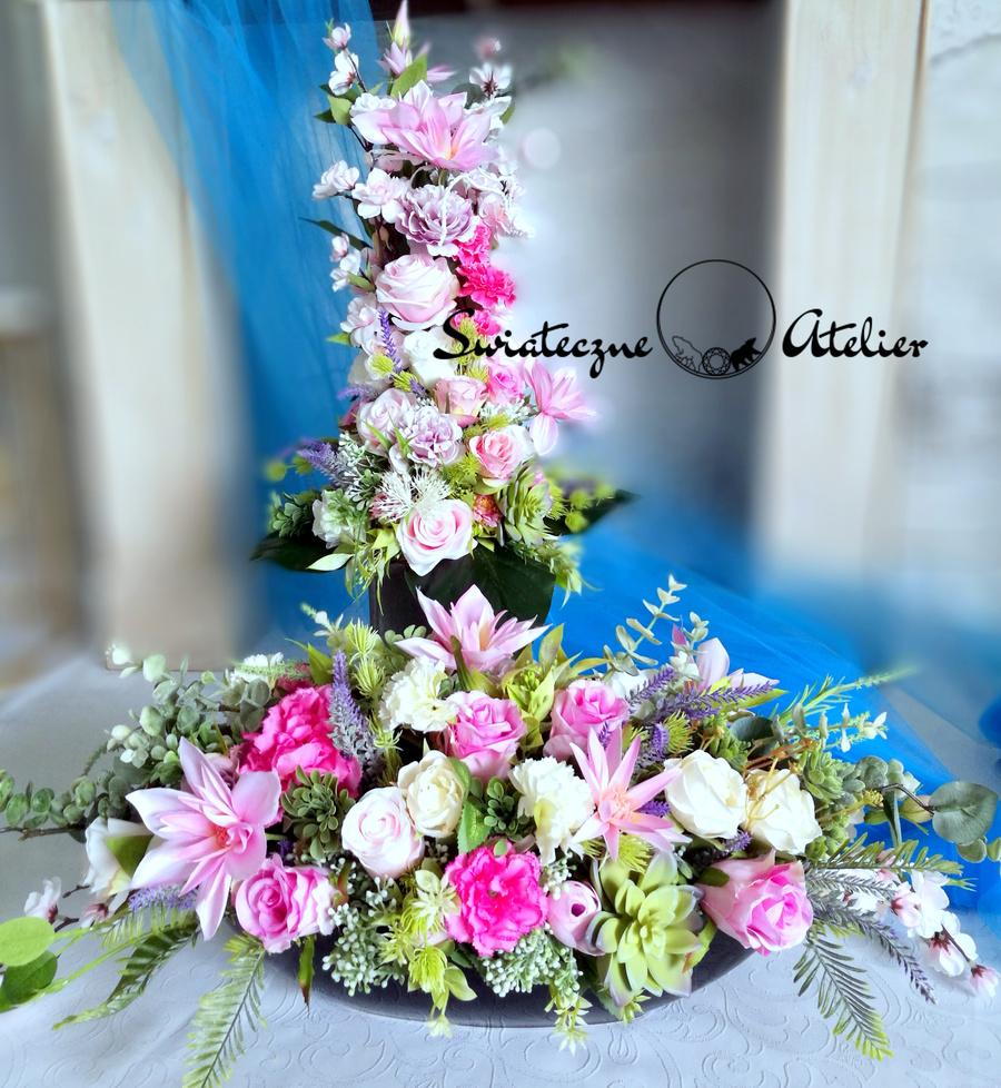 Kompozycja kwiatowa z bukietem Marzenie 4 nr 467