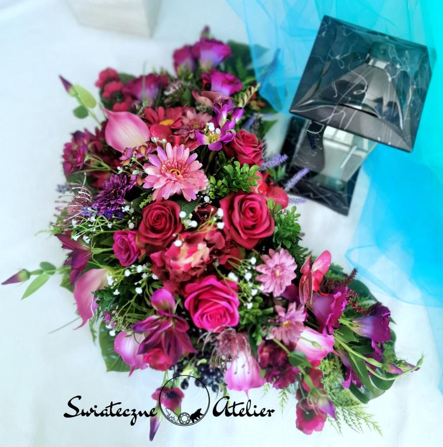 Stroik nagrobny Odcienie fioletu nr 494