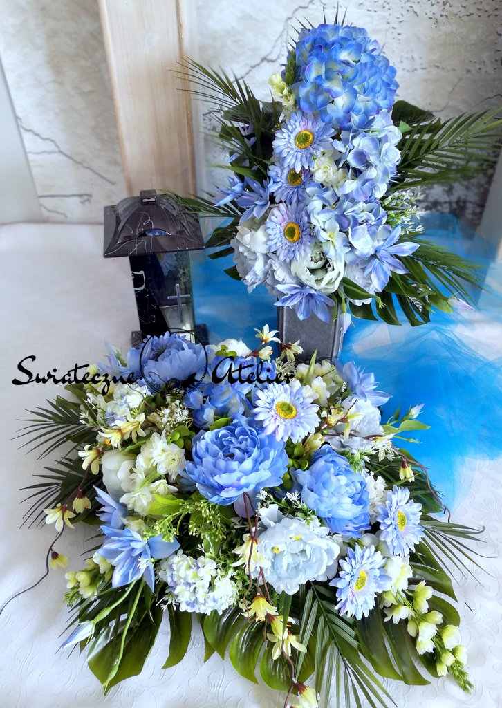 Dekoracja nagrobna Niebieska etiuda nr 502