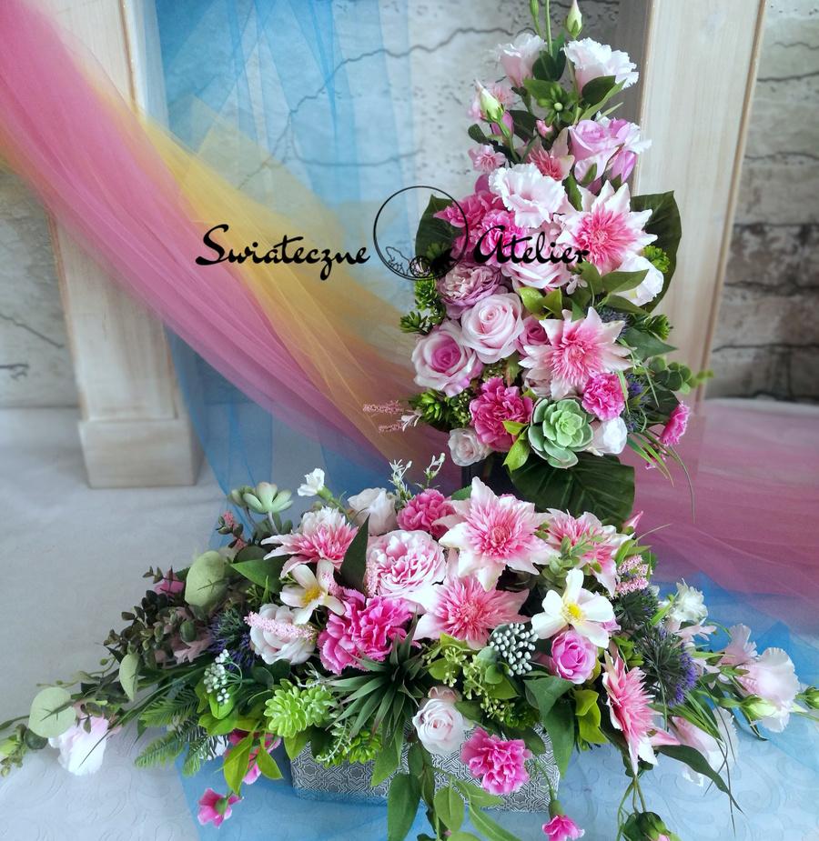 Kompozycja kwiatowa z bukietem Marzenie 5 nr 511