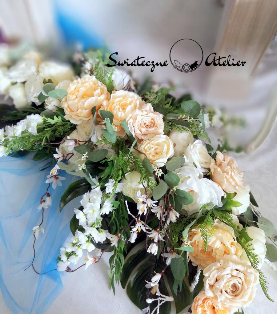 Stroik nagrobny Piwonie i róże roz. XL nr 523